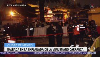 Dos personas mueren baleadas en la delegación Venustiano Carranza