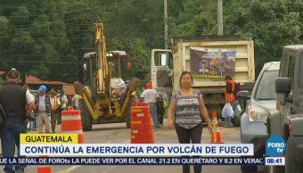 Guatemala continúa con las labores de rescate en el Volcán de Fuego