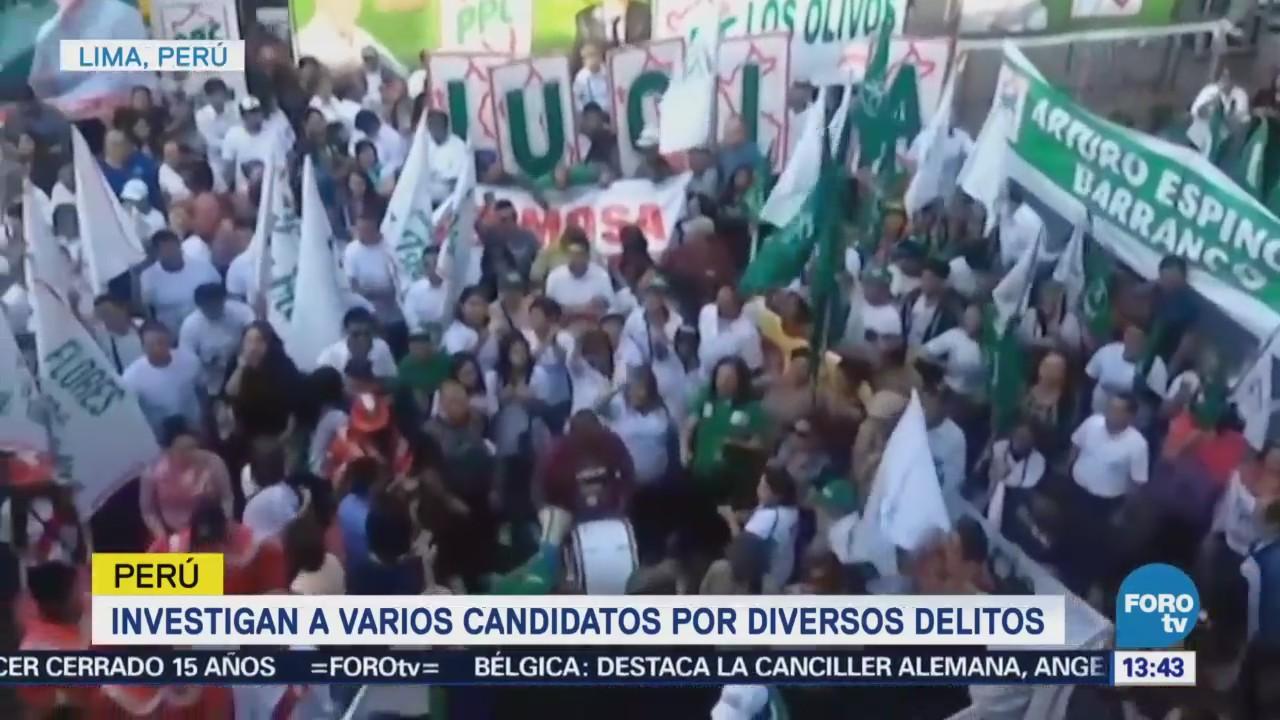 Investigan a numerosos candidatos por corrupción en Perú