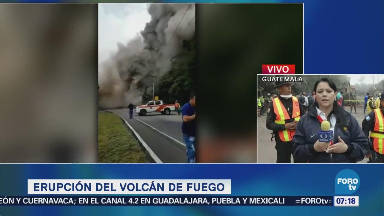 Lluvias podrían complicar rescate tras erupción volcánica en Guatemala