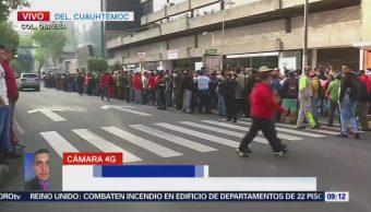 Trabajadores de limpia CDMX protestan avenida Fray Servando