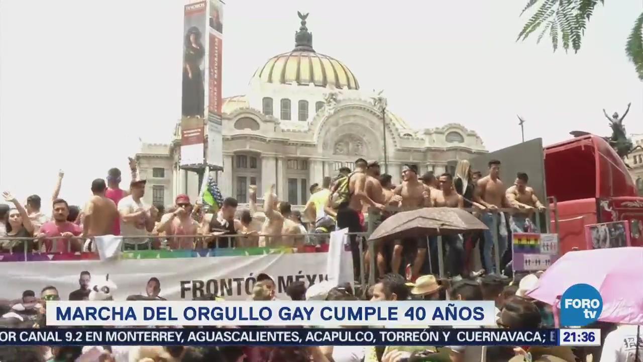 Marcha Orgullo Gay Cumple 40 Años CDMX