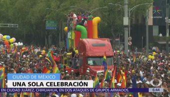 Marcha del orgullo gay recorre Reforma, CDMX