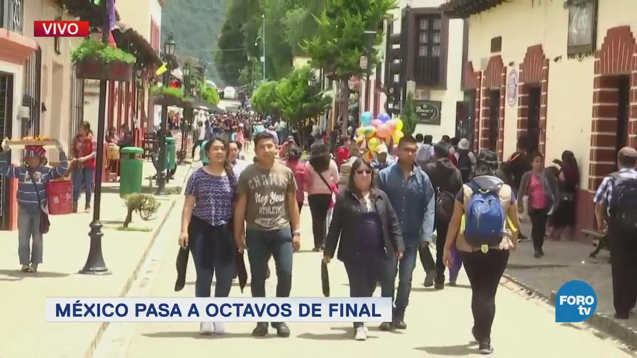 Más de 3,500 personas apoyan a la selección mexicana en plaza de Chiapas