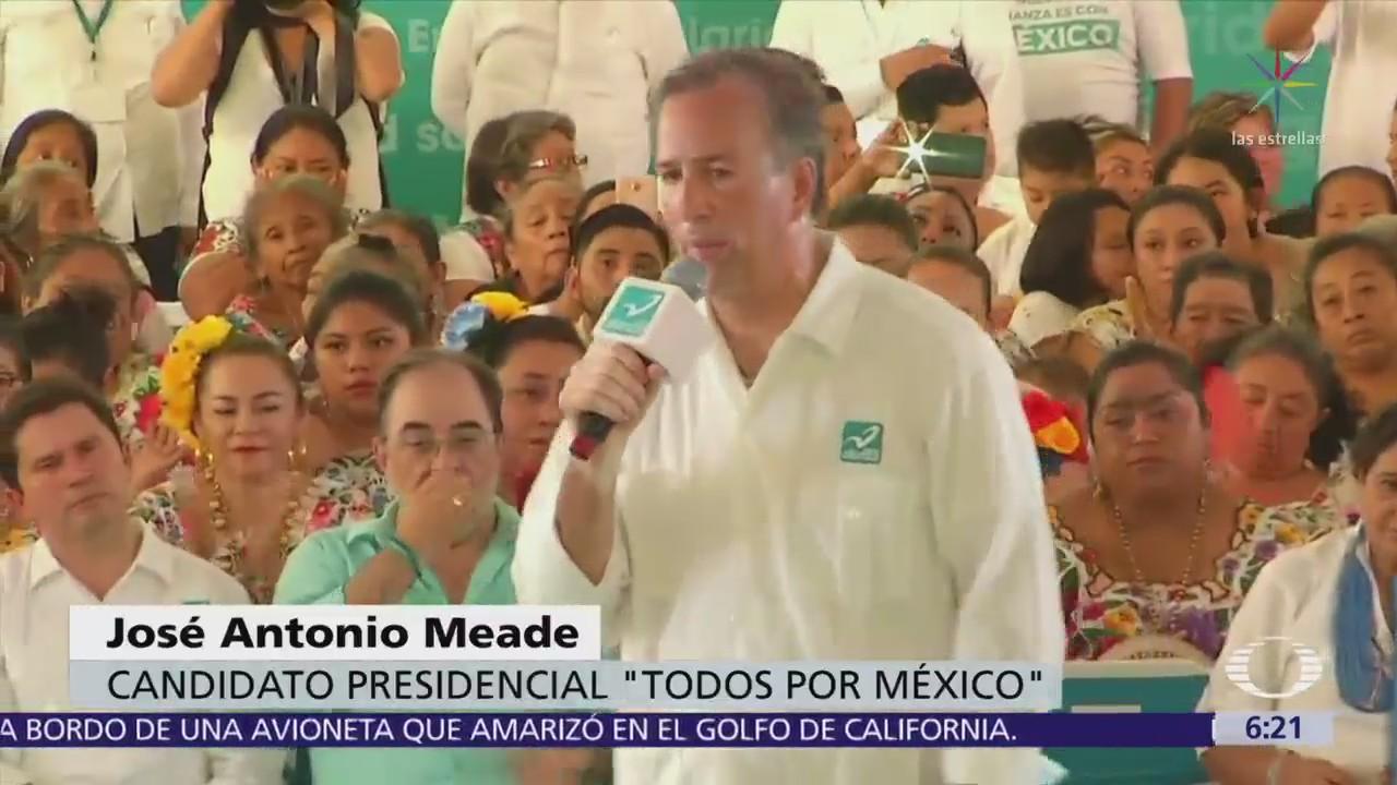Meade afirma que las amenazas son de quien perdió la elección