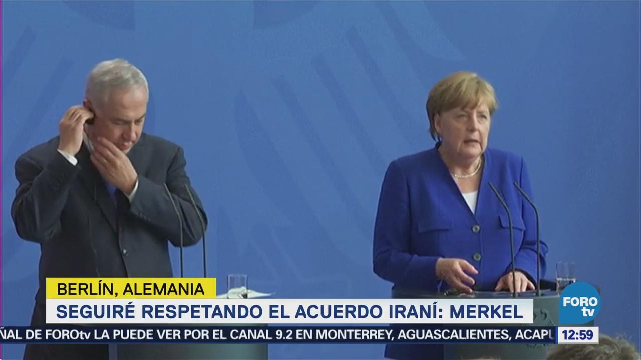 Merkel se reúne con Netanyahu en Berlín