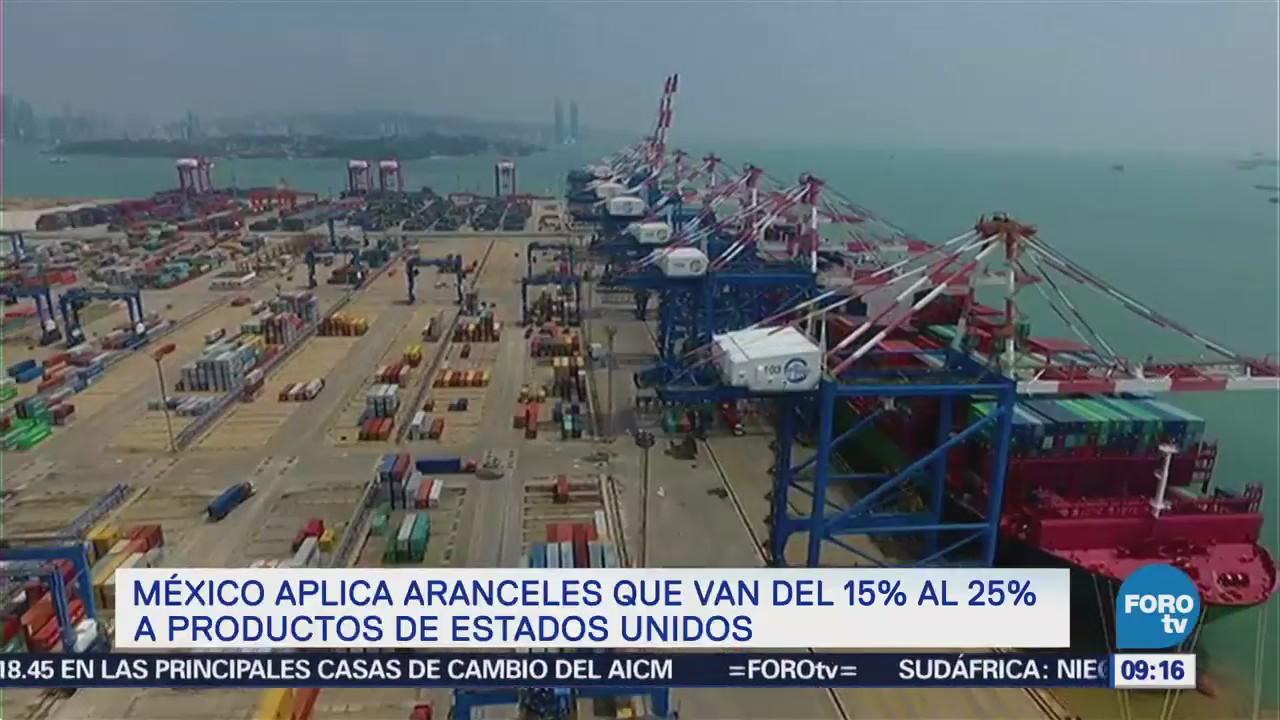México impondrá aranceles entre 25% y 15% a productos de EU