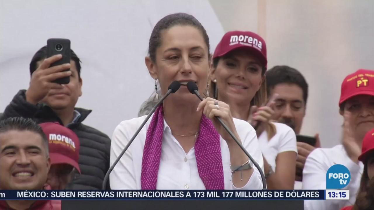 Claudia Sheinbaum Alista Cierre Campaña