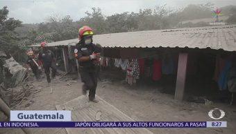 Nueva emisión del Volcán de Fuego provoca evacuación