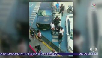 Nueve personas se enfrentan contra policías de Tlanepantla, Edomex