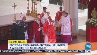 Papa Francisco Entrega Indumentaria Litúrgica Tres Arzobispos Mexicanos