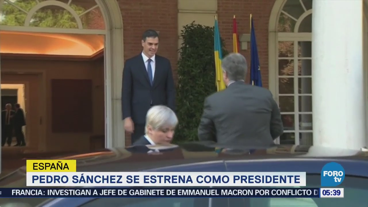 Pedro Sánchez se estrena como presidente de España