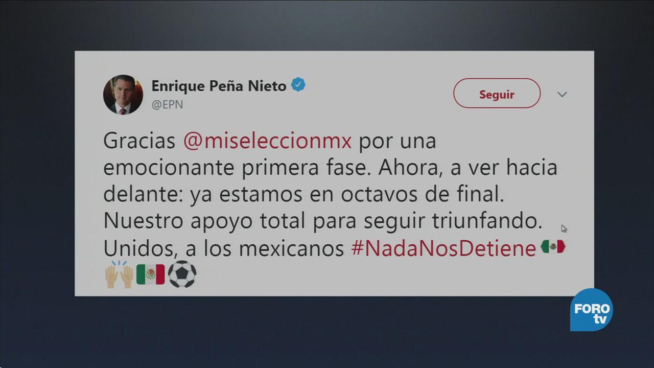 Peña Nieto celebra avance de la selección mexicana