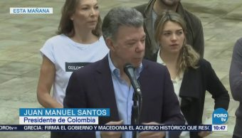 Presidente Juan Manuel Santos pide a colombianos a votar