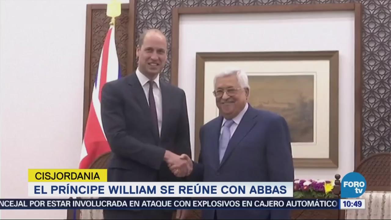 Príncipe Guillermo se reúne con Abbas