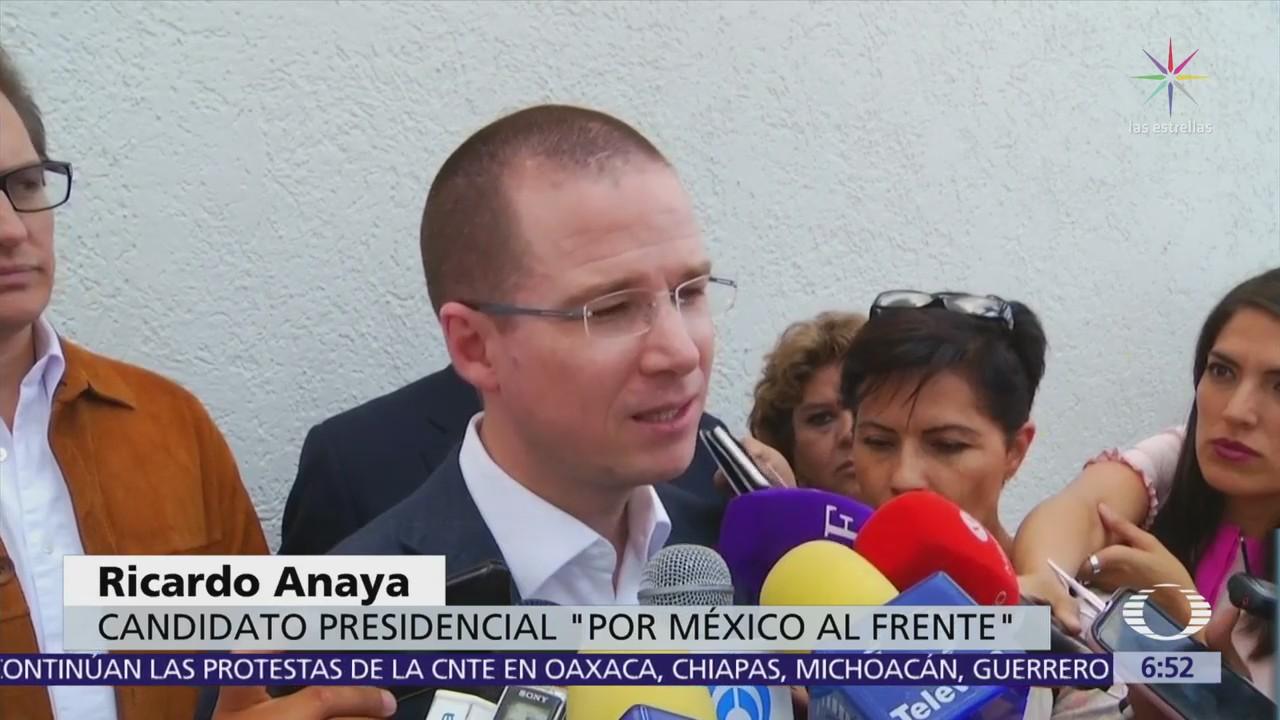 Ricardo Anaya coincide con empresarios sobre necesidad de abatir violencia