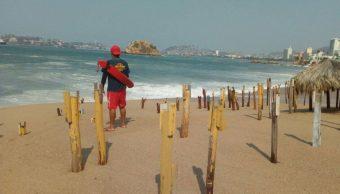 Emiten alerta preventiva por mar de fondo en Acapulco