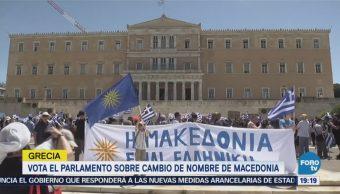 Vota Parlamento Sobre Cambio Nombre Macedonia