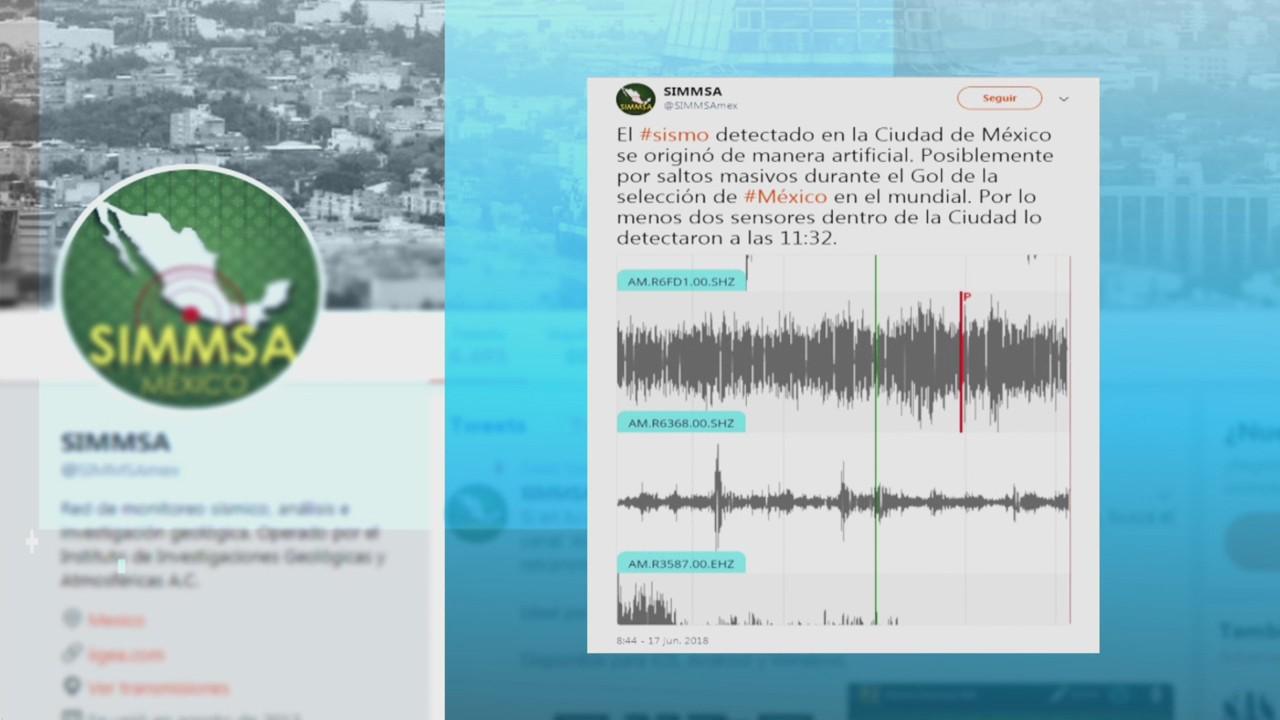 Se registra supuesto sismo durante festejo de gol de México