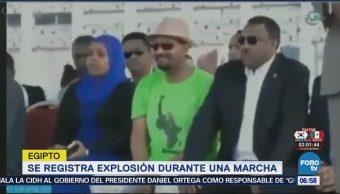 Registra Explosión Durante Una Marcha Etiopía