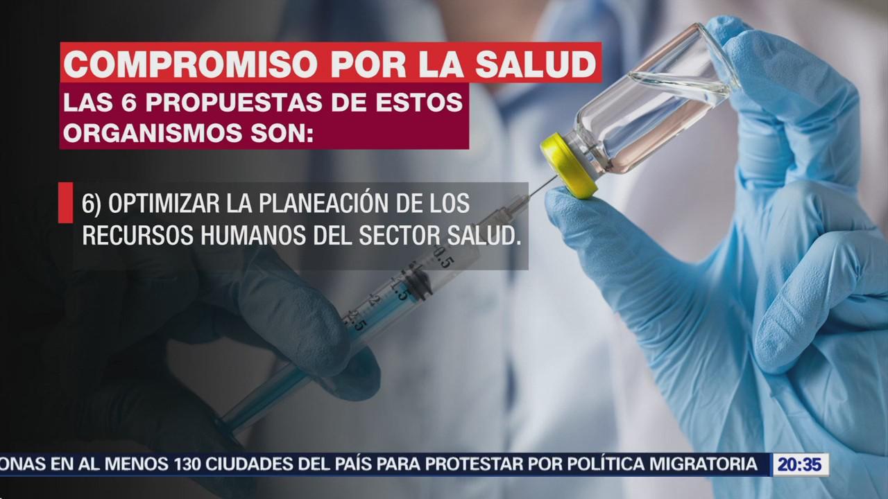 Sector Privado Organizaciones Civiles Firman Compromiso Salud