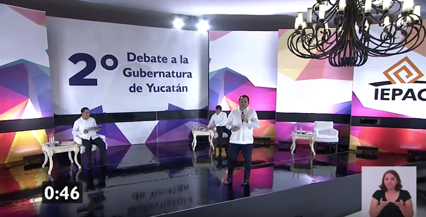 Segundo Debate Yucatán, Yucatán 2018, Yucatán, Debate, Mauricio Sahuí Rivero, Vila Dosal