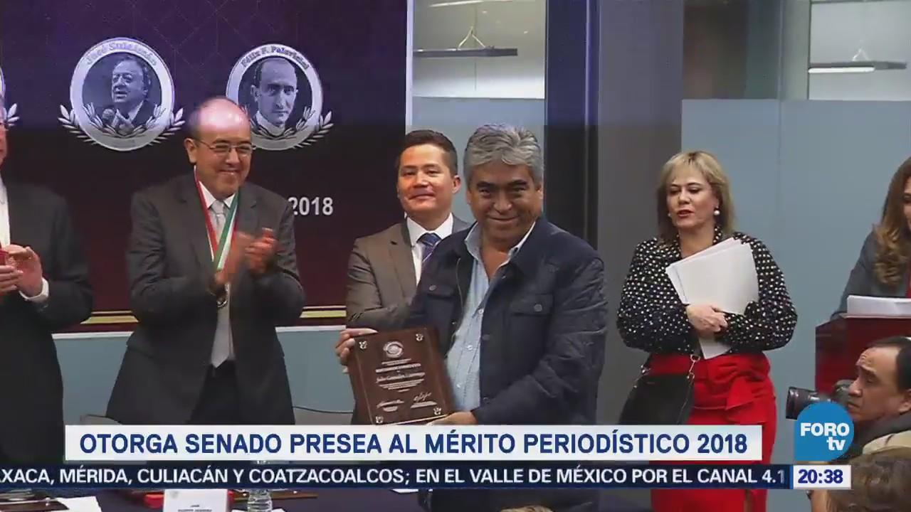 Senado Otorga Presea Mérito Periodístico 2018