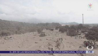 Sobrevuelo de Despierta sobre zonas afectadas por Volcán de Fuego