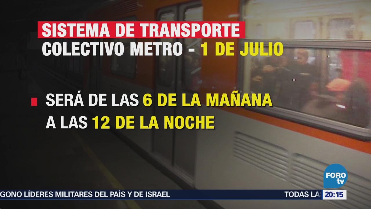 Metro Horario Especial Acceso Gratuito 1 Julio