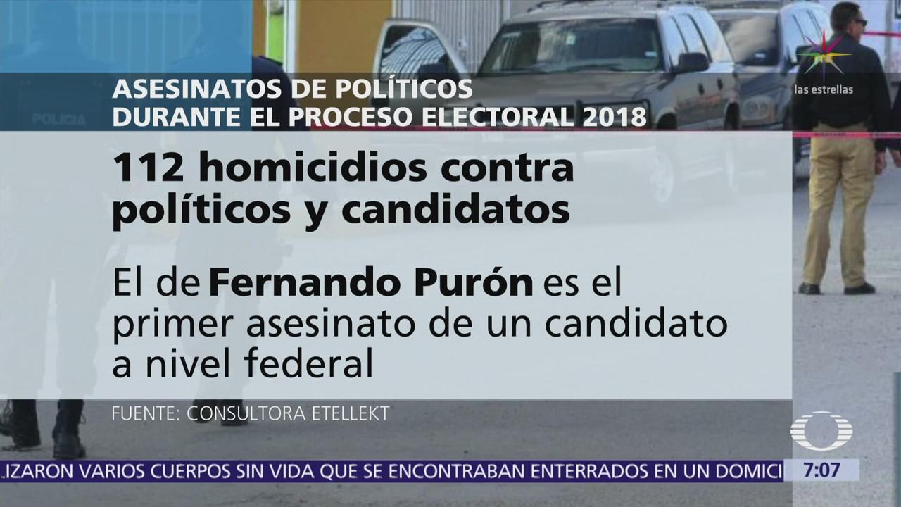 Suman 112 homicidios de políticos y candidatos durante proceso electoral mexicano