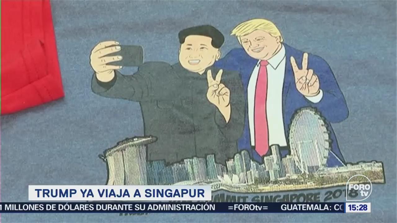 Trump ya viaja a Singapur