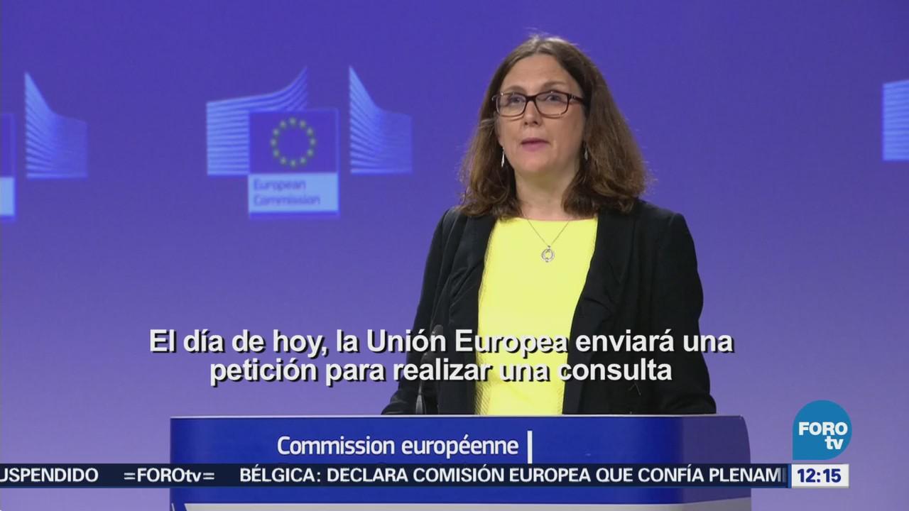 Unión Europea responde a aranceles de EU