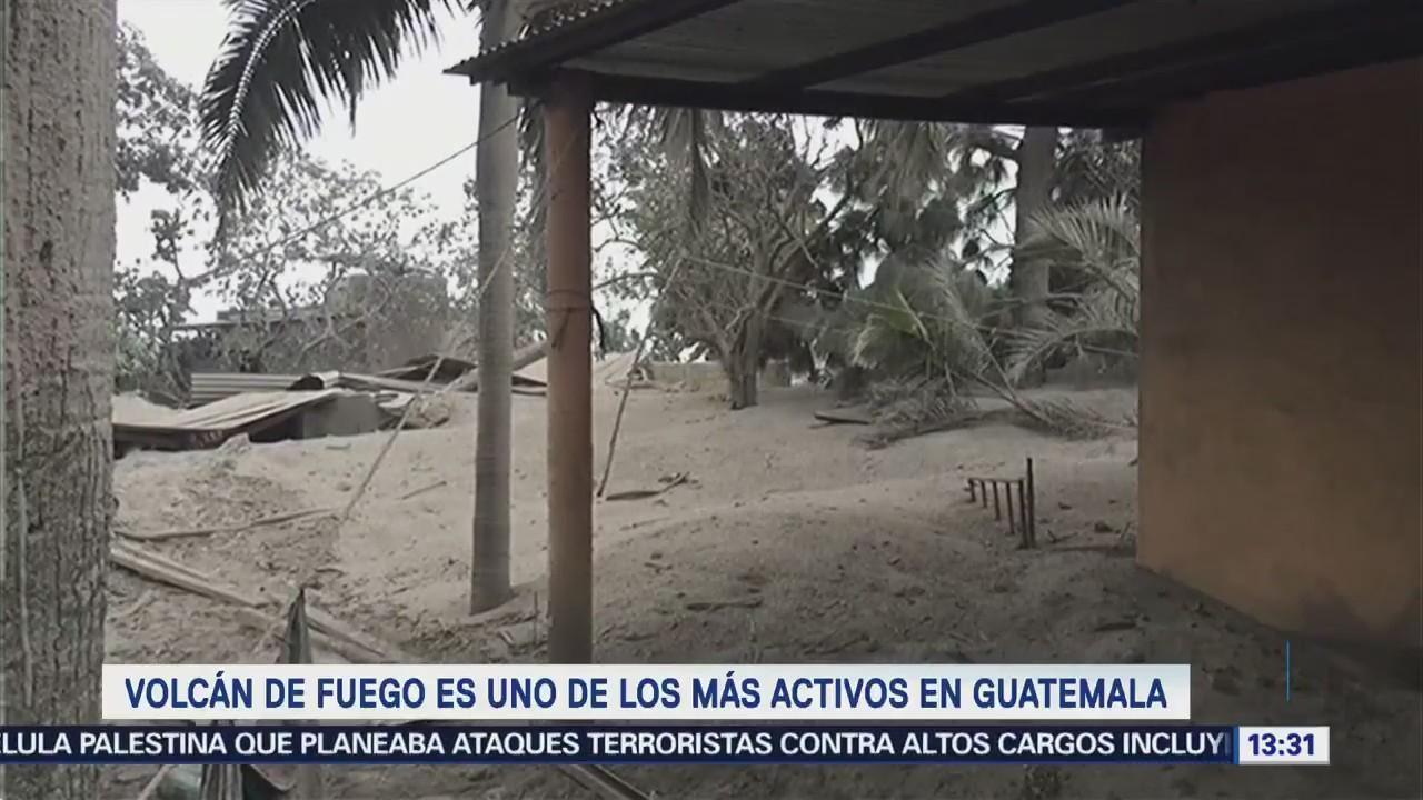 Volcán Fuego Más Activos Guatemala