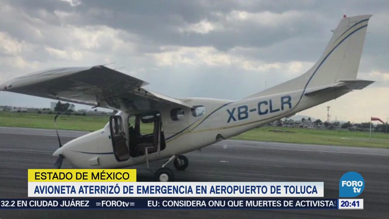 Aeropuerto Toluca Suspende Operaciones Aterrizaje Forzoso Aeronave