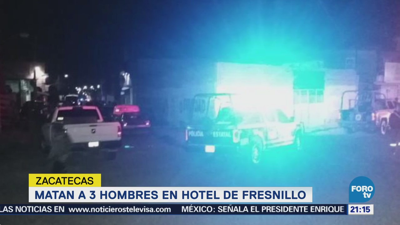 Asesinan Tres Personas Hotel Zacatecas Colosio