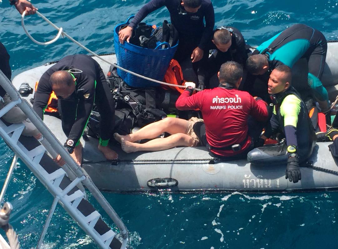 Se registran dos naufragios en Tailandia