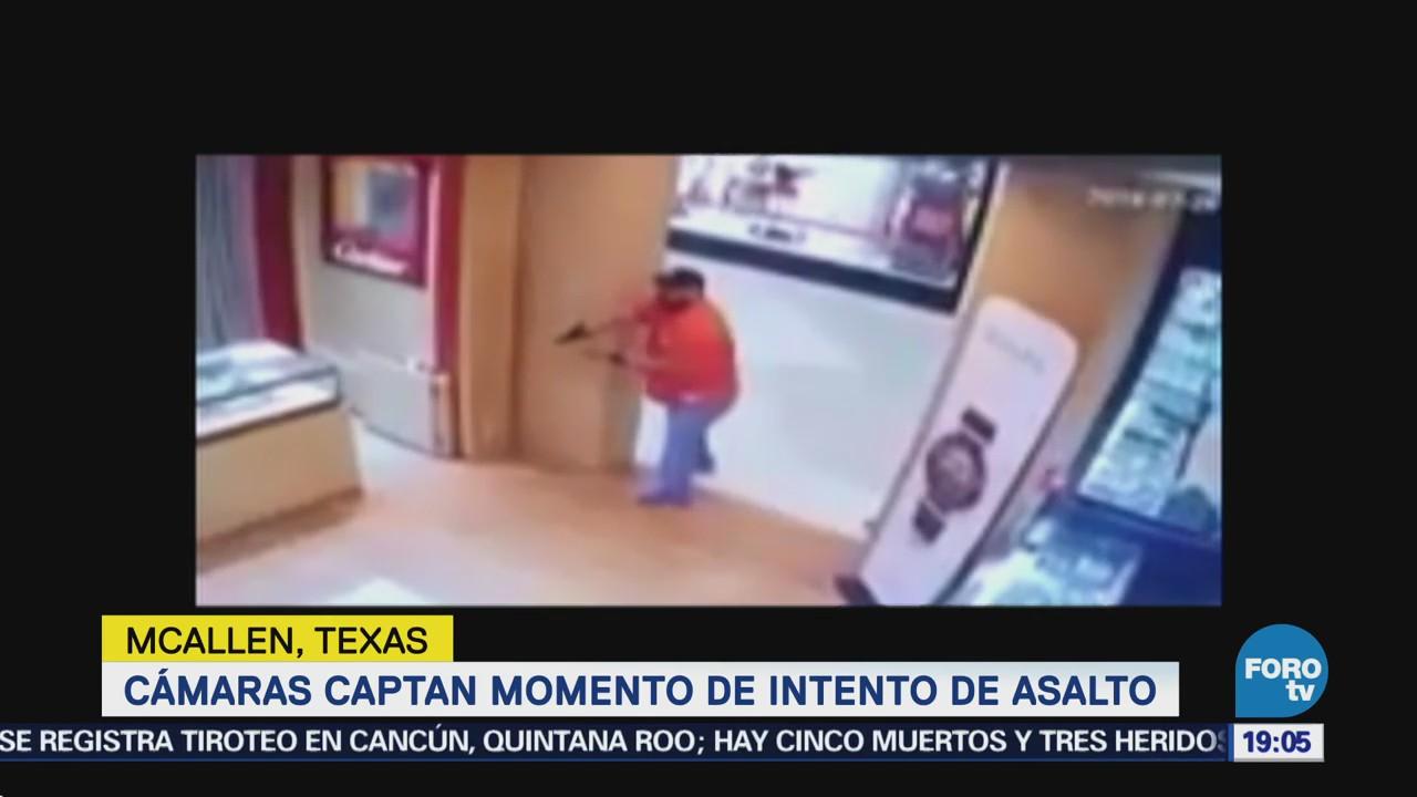 Cámaras Captan Intento Asalto Joyería Texas Graban