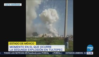 Captan en video segunda explosión de polvorín en Tultepec