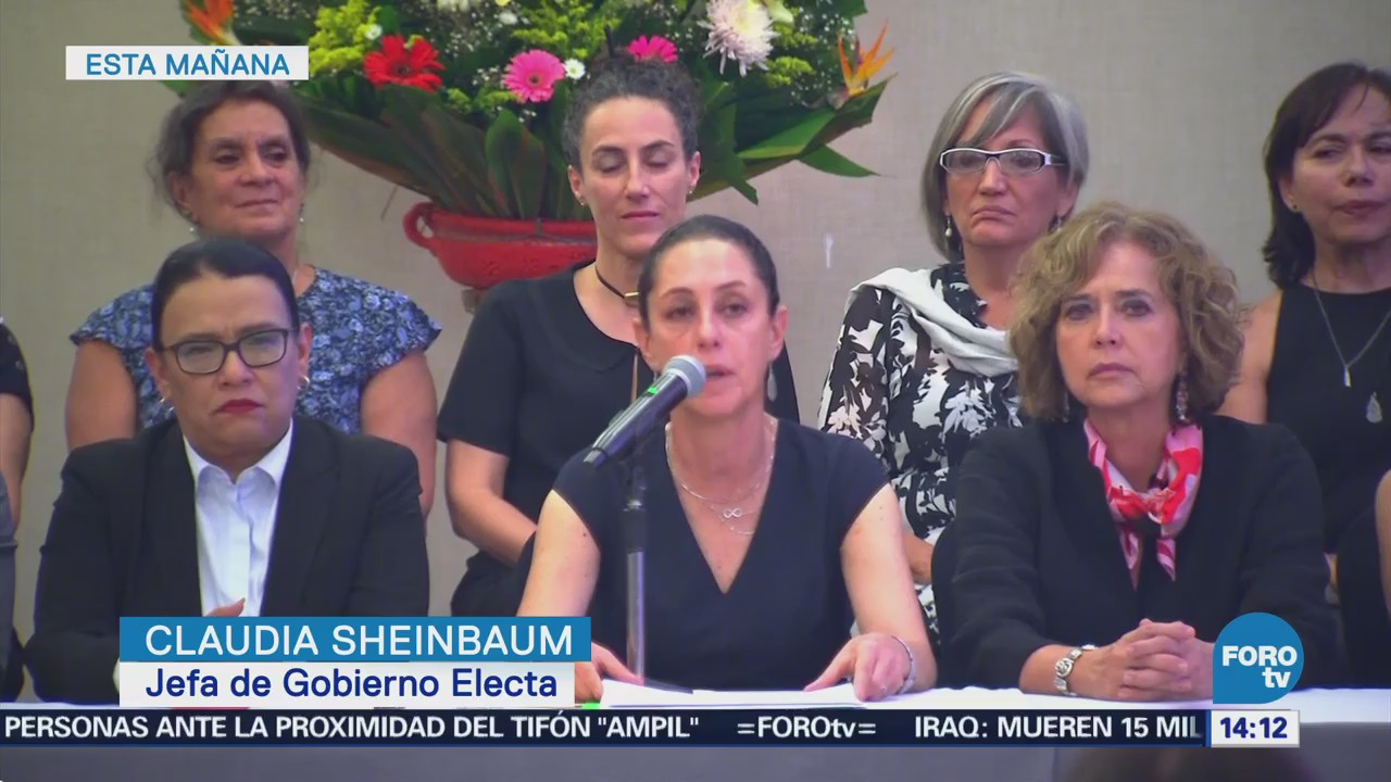 Claudia Sheinbaum presenta a parte de su gabinete