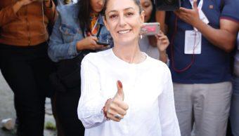 Claudia Sheinbaum se declara ganadora CDMX