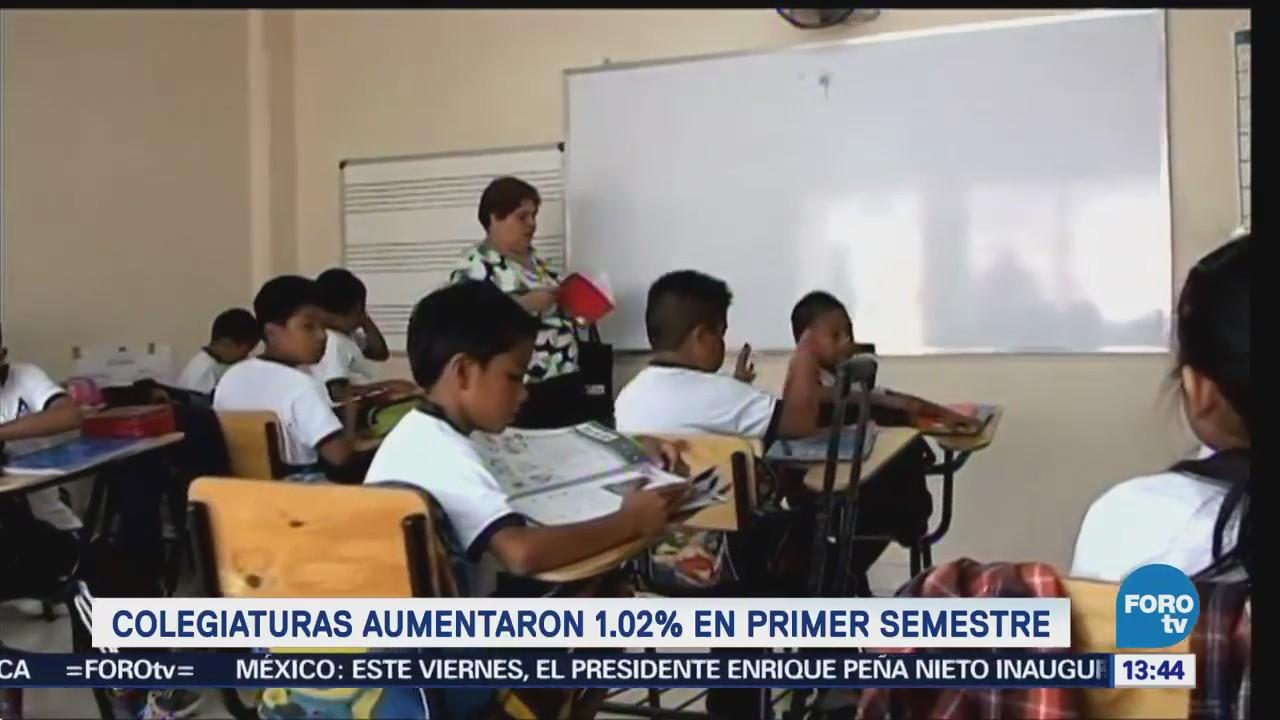 Colegiaturas aumentaron 1.02% en primer semestre: INEGI