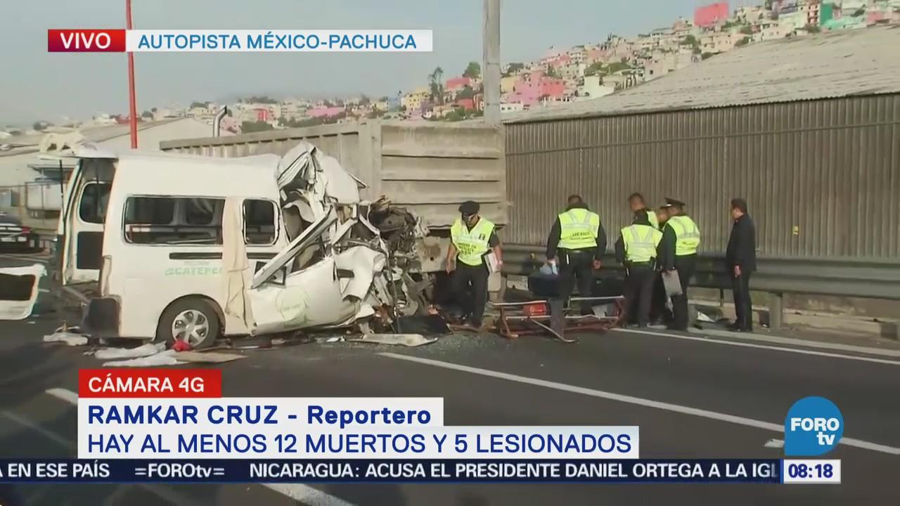 Continúan los trabajos rescate por accidente México Pachuca
