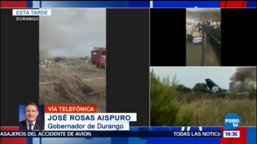 Dos Personas Lesiones Severas Accidente Avión Durango