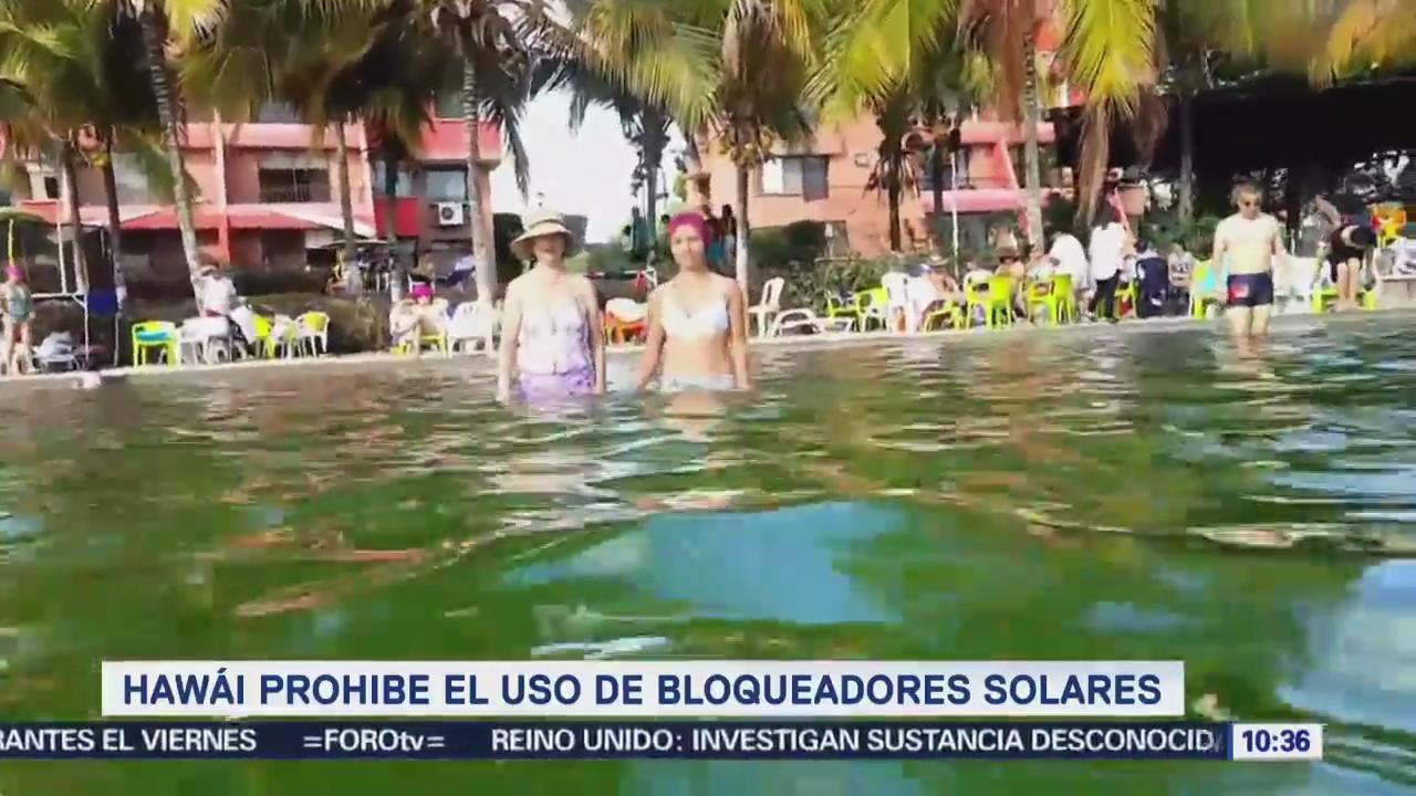 Extra Extra: Hawái prohíbe el uso de bloqueadores solares