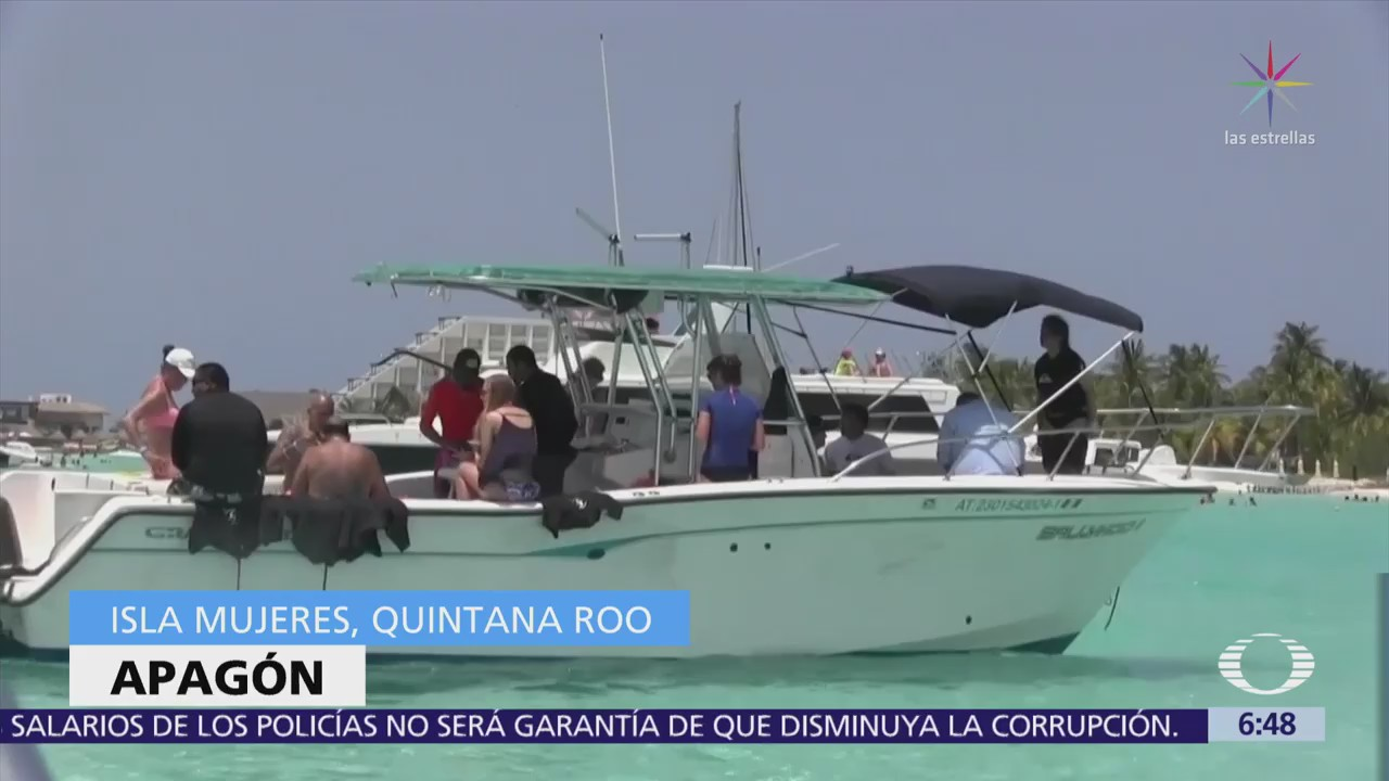 Falla de cable submarino causa apagón en Isla Mujeres
