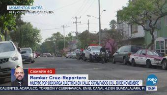 Hombre muere por descarga eléctrica en la delegación Venustiano Carranza, CDMX