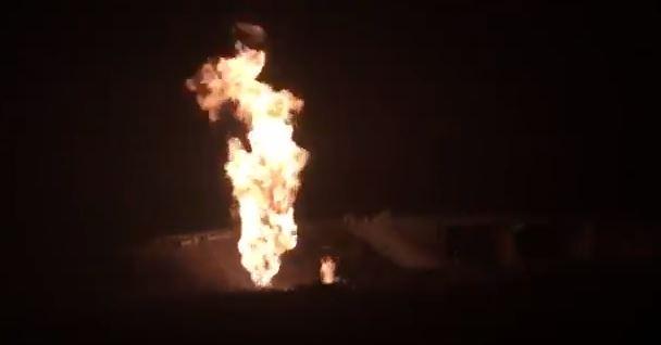 Se incendia toma clandestina de gas LP en Puebla
