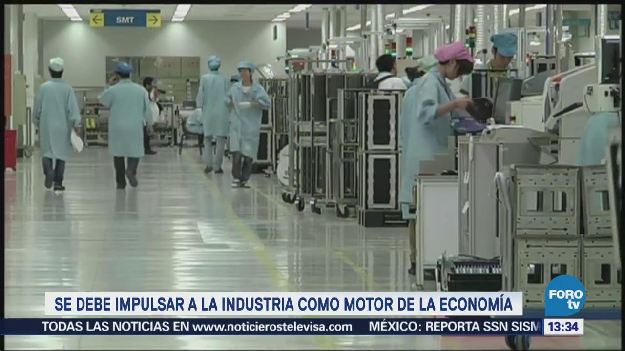 Industria debe ser el motor de la economía: Concamin