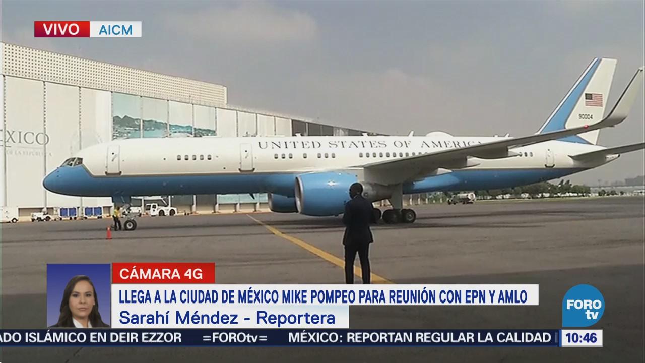 Llega Mike Pompeo a la CDMX para reuniones con Peña Nieto