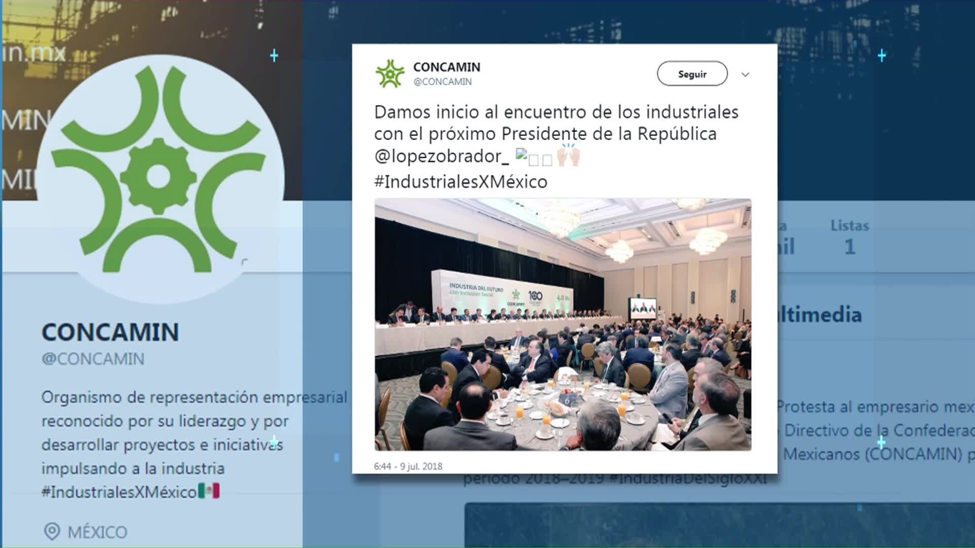López Obrador se reúne con titulares y miembros de Concamin